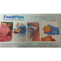 Food Plus Stretch Polymer Gloves - Pack Of 200