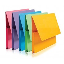 Foolscap Paper Document Wallet - 35 x 24cm - Pack of 5 - Assorted Colours