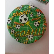 Football Theme Disposable Side Paper Plates - 19Cm X 19Cm - Pack of 10
