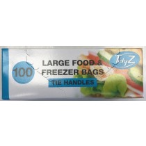Large Freezer Bags With Tie Handles - Pack Of 100