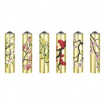 Clipper Classic Large Reusable Lighters - Gold Branches - Assorted Colours & Designs