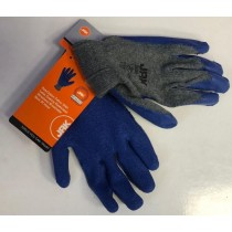 Large Latex Palm Coated Gripper Builders Gloves