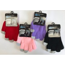 Kids Touchscreen Winter Gloves - Assorted Colours - 0% VAT