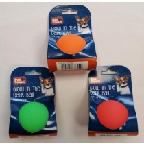 Pet Touch Glow in the Dark Dog Play Ball - 6cm - Assorted Colours