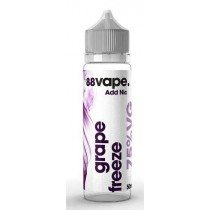 88 Vape Shortfill E Liquid - Grape Freeze - 75% Vg - 50Ml