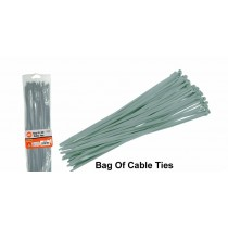 Grey Cable Ties - 370mm x 3.6mm - Pack of 20