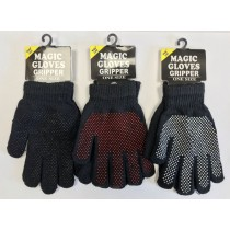 Warm Land Magic Gloves Gripper - Black - One Size