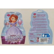Disney Sofia Fizz Popping Bath Crystal Salt - Collectable Bath Sticker Inside - 50 Grams