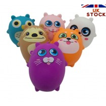 Animals Sensory Squishy Toy - Assorted Shapes and Colours - 8cm x 7cm