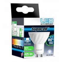 Supacell Led Gu10 Spot Pin Base Wide Beam 5W Light Bulb - Wide - Cool Day White