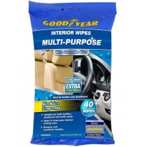 Good Year Multi-Purpose Interior Wipes with Carnauba Wax - Black Ice Fragrance - Pack of 40