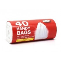 Extra Strong Handy Pedal Bin Bag Liners With Tie Handles - 15 Litres - Pack of 40