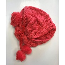 Thick Warm Woolly Hats With Pompoms