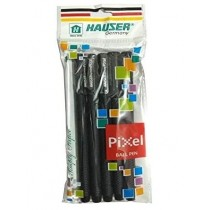 Hauser Germany Pixel Ball Pen - Black - Pack of 5