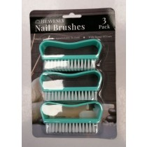 Heavenly Nail Brushes - Green - Pack of 3