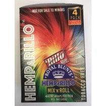 Hemp A Rillo Mix n Roll Tobacco Free Royal Blunts - Pack of 15 - Assorted Hemp Wraps