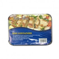 Foil Containers And Lids (22Cm) - Pack Of 10