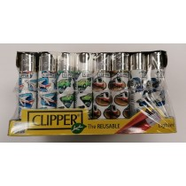 Clipper Classic Large Reusable Lighters - Holidays - Assorted Colours & Designs