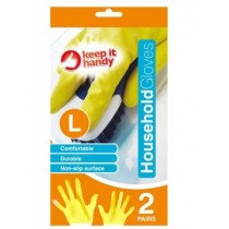 Household Gloves - Large - 2 Pair