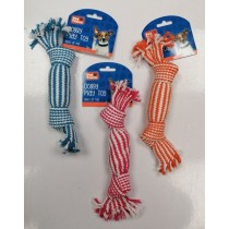 Pet Touch Honking Weave Squeaky Doggy Play Toy - Assorted Colours - 27 x 6cm