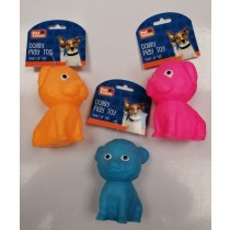 Pet Touch Squeaky Cat / Dog Doggy Play Toy - Assorted Designs - 13 x 10cm