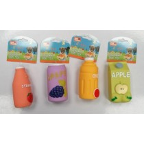 Pet Touch Squeaky Drink Carton Dog Toy - Assorted Designs - 13 x 6.5cm