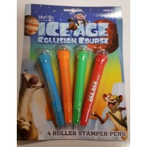 ICE AGE COLLISION COURSE ROLLER STAMPER PENS - PACK OF 4
