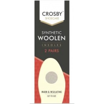 Crosby Shoe Care - Synthetic Woolen Insoles - Pack of 2 Pair