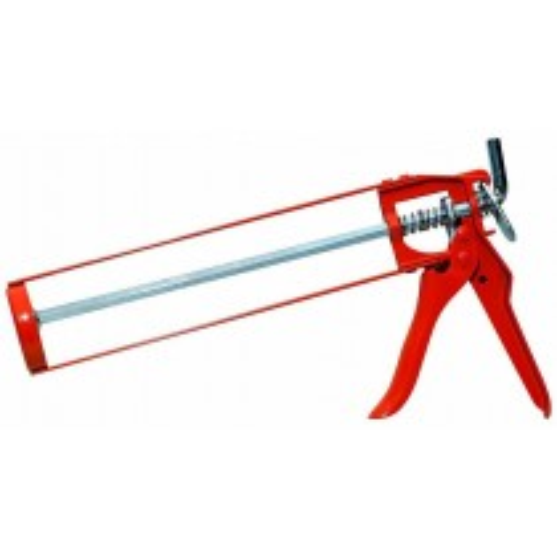 """JAK Skeleton Aluminium Caulking Gun - 9"""" - Orange"""