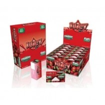 Juicy Jays Strawberry Flavoured Cigarette Rolling Paper Big Size - Pack Of 24 - 32 Leaves Per Pack