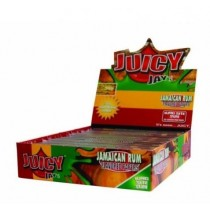Juicy Jays Jamaican Rum Flavoured Cigarette Rolling Paper King Size Slim  - Pack Of 24 - 32 Leaves Per Pack