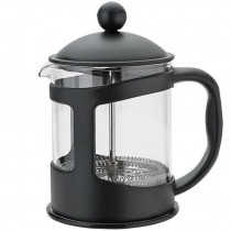 Home Black Plastic Cafetiere 4 Cup