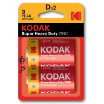 Kodak Super Heavy Duty Zinc Batteries - D - Pack Of 2