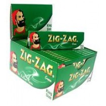 Zig Zag Green King Size Rolling Papers - 50 Booklets