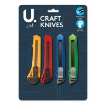 U Cut Craft Knives with Snap Blades - Pack of 4