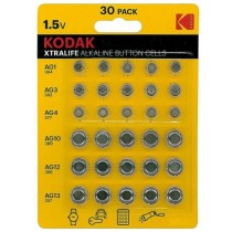 Kodak Xtralife Alkaline Button Cells - 1.5V - Pack of 30 - Exp: 05/22