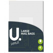 U Send Large Mailing Bag - 32 X 44 cm - Pack Of 4