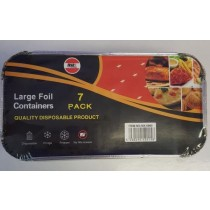 Large Disposable Foil Containers With Lids (20Cm) - Pack Of 7