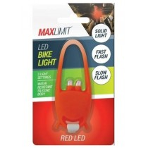 Max Limit Water Resistant LED Bike Light - Orange