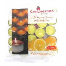 Carlingford Superb Quality Night Light Candles - Lemon - Pack of 25