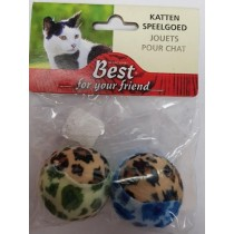 Leopard Print Pet Cat Toy Balls - Pack of 2