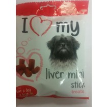 GIVE A DOG A TREAT - LIVER MINI STICKS - CONTAINS REAL MEAT
