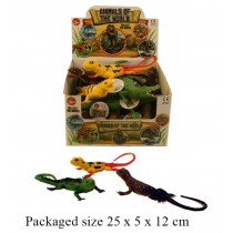 Toy Animals Of The World Lizard And Crocodile  Series - Assorted Sizes, Shapes And Colours