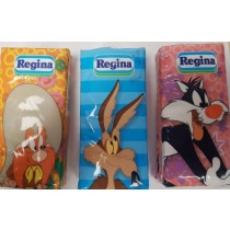 Regina Looney Tunes Pocket Tissues - 4 Ply - Bubblegum Flavoured - Pack of 9