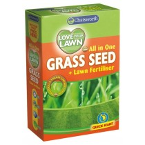 151 Chatsworth Love Your Lawn All in One Grass Seed + Lawn Fertiliser - 375g