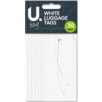 Luggage Tags - White - Pack Of 30