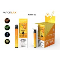 VaporLax Mate Disposable Vape Device - Mango Ice - 20mg - 2ml - 800 Puffs