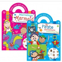 Marvellous Mermaid/My Pirate Adventure Colouring Bag - With Over 100 Stickers