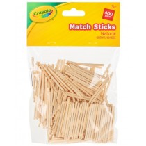 Crayola Natural Match Sticks - For Ages 3+ - Pack of 400