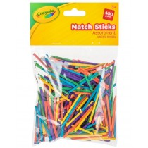 Crayola Match Sticks - Assorted Colours - For Ages 3+ - Pack of 400